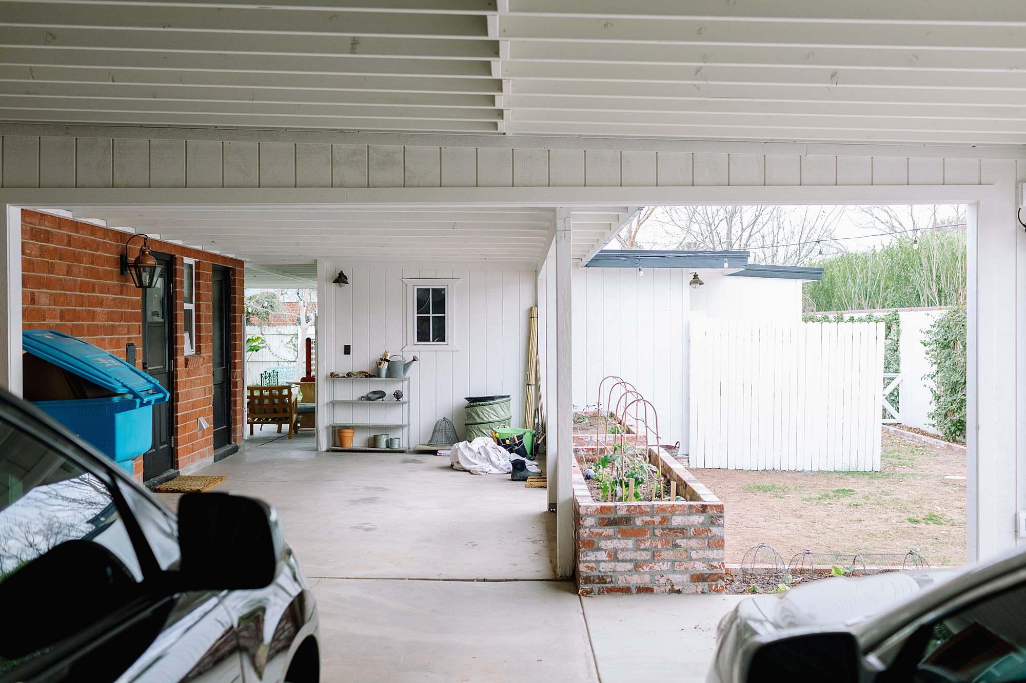 open air back garage