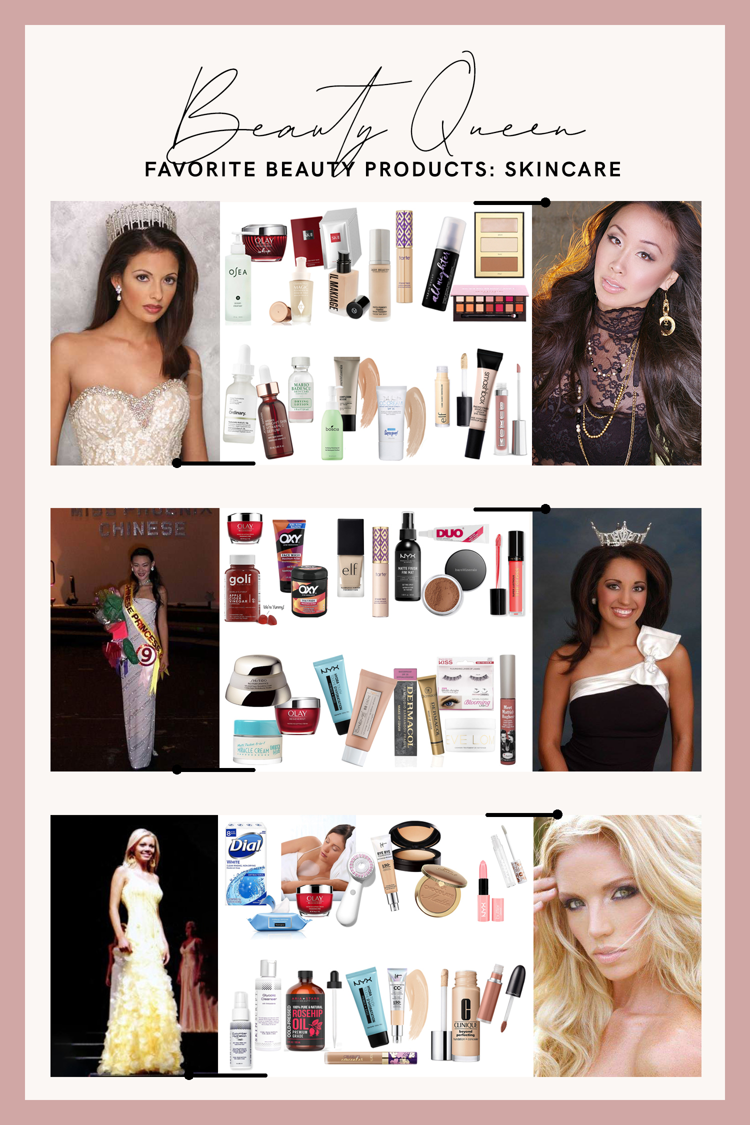 former beauty queens favorite skincare and beauty products