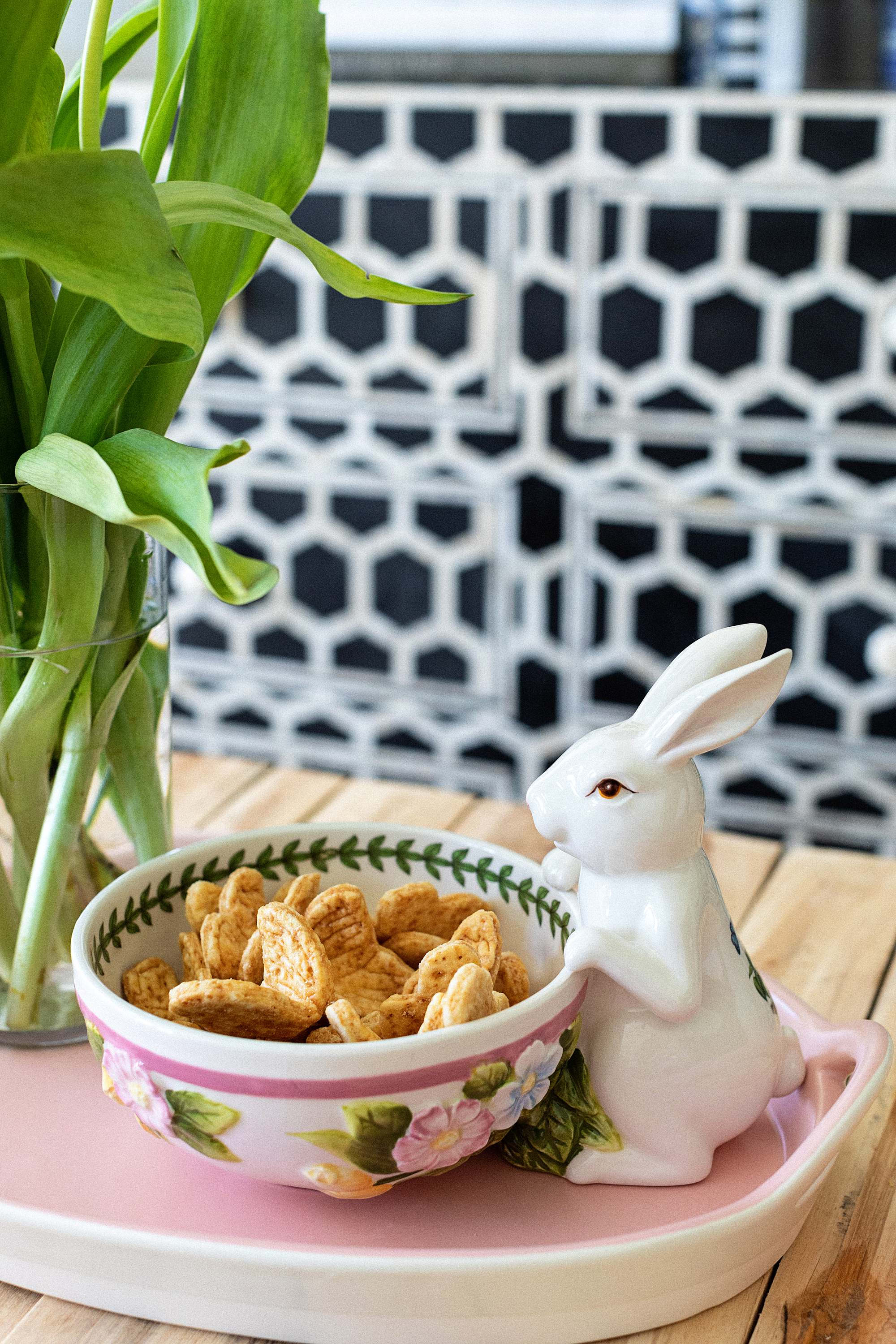 rabbit bowl Macys butterfly shaped cookies