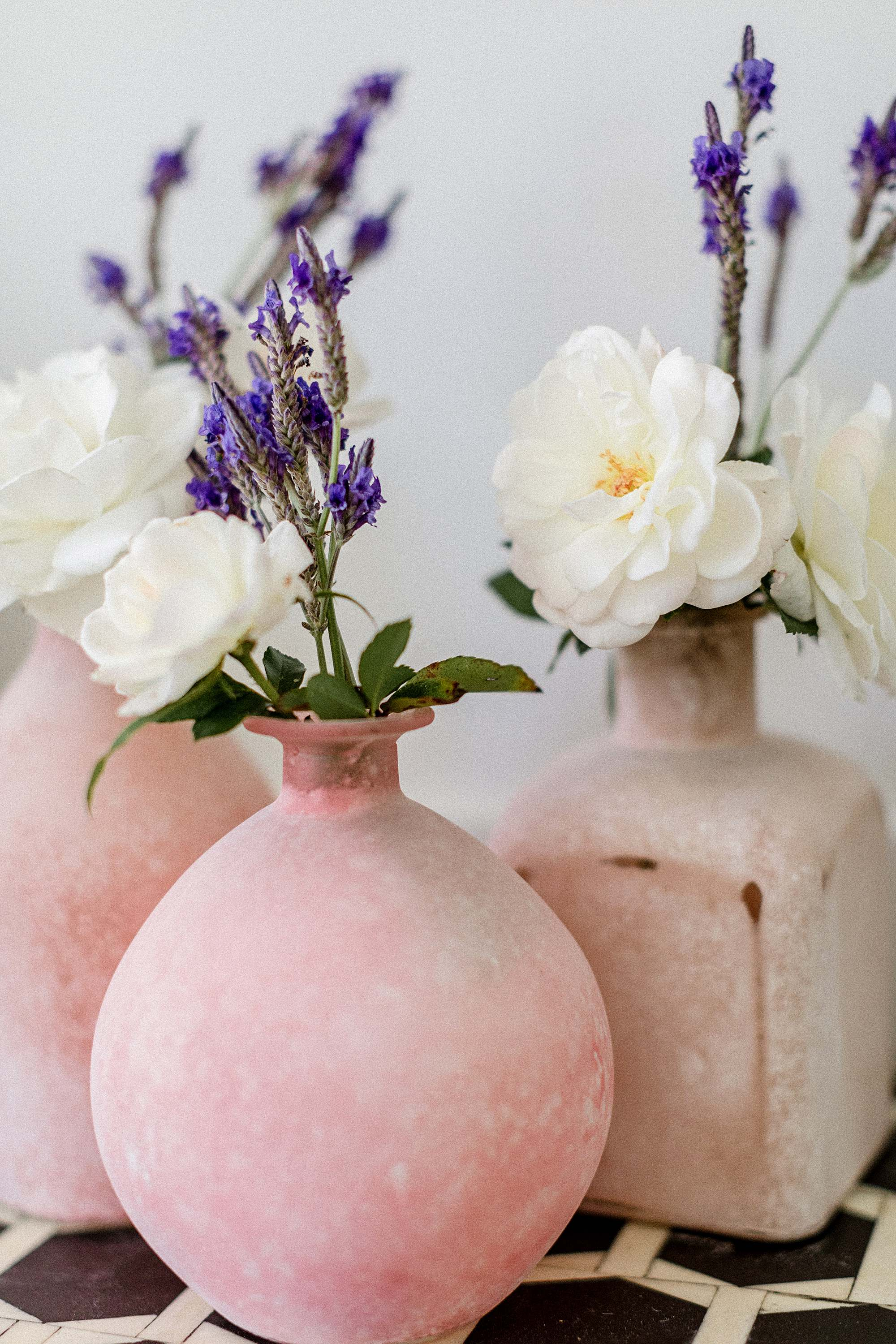 pink bud vases for easter