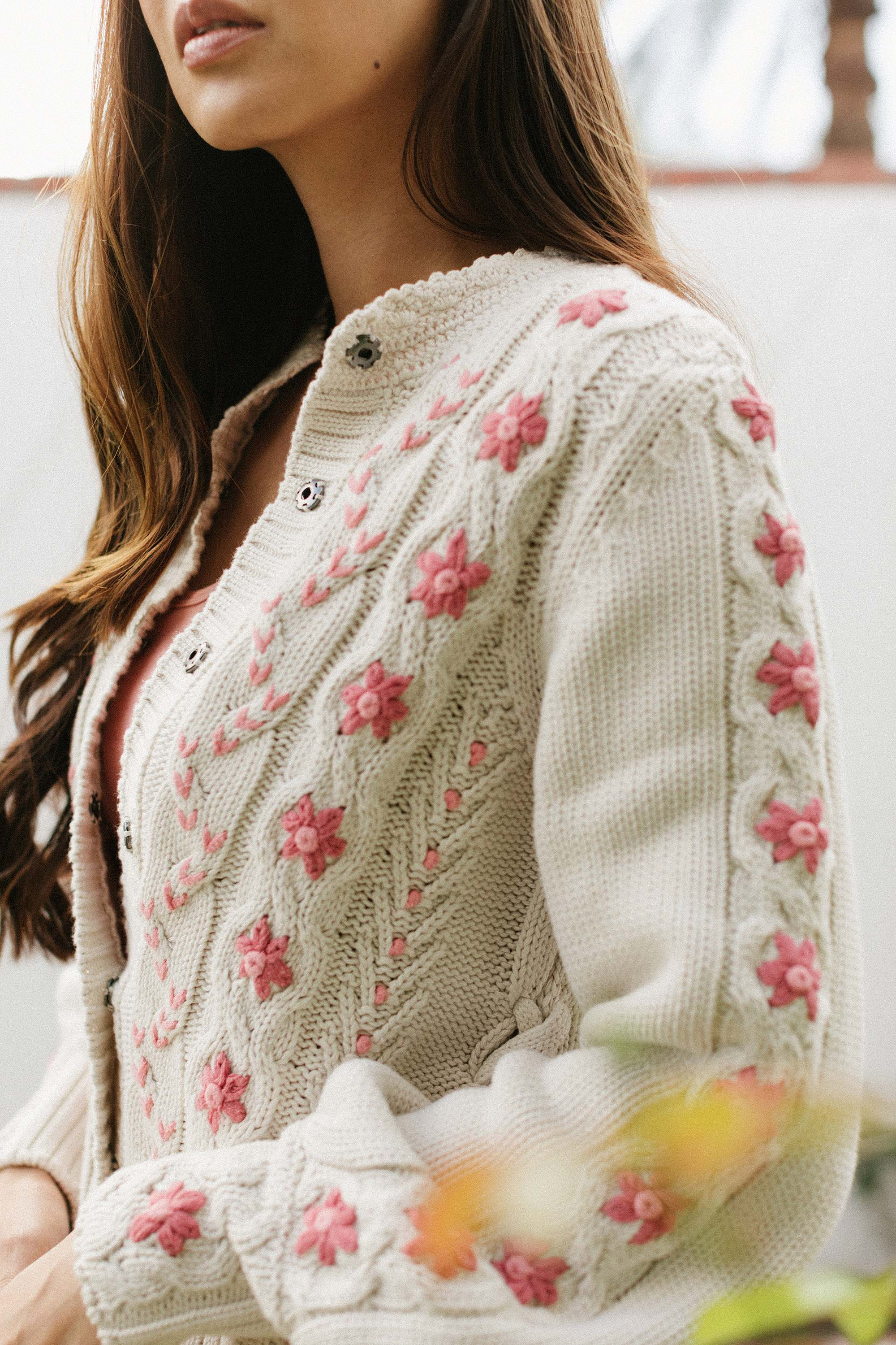 oh wow cardigan by odd Molly on lifestyle garden blogger Diana Elizabeth // see her new home garden are raised brick beds