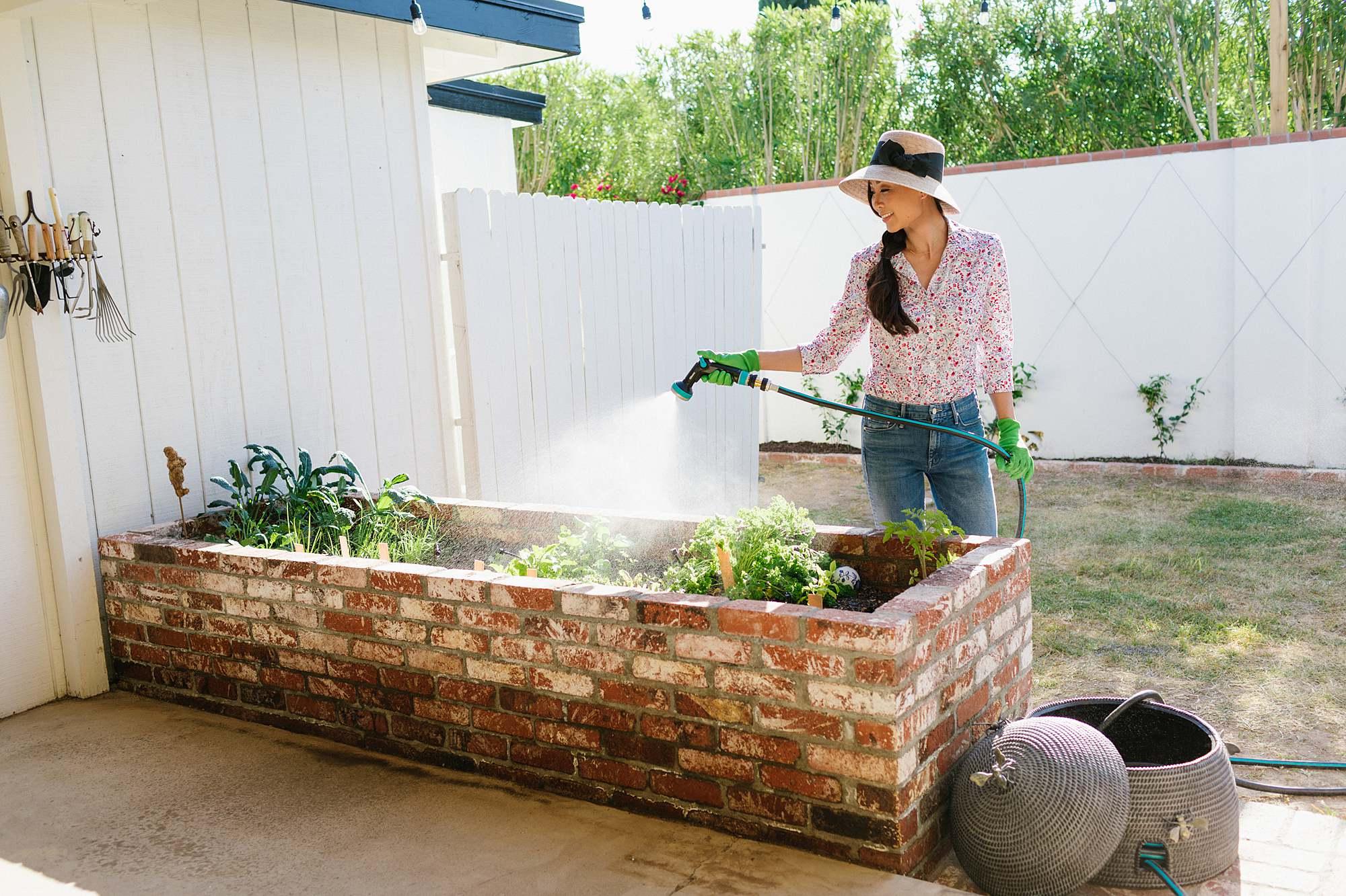 lightweight durable hose by gilmour - garden backyard raised garden beds // arizona phoenix home and garden lifestyle blogger Diana elizabeth