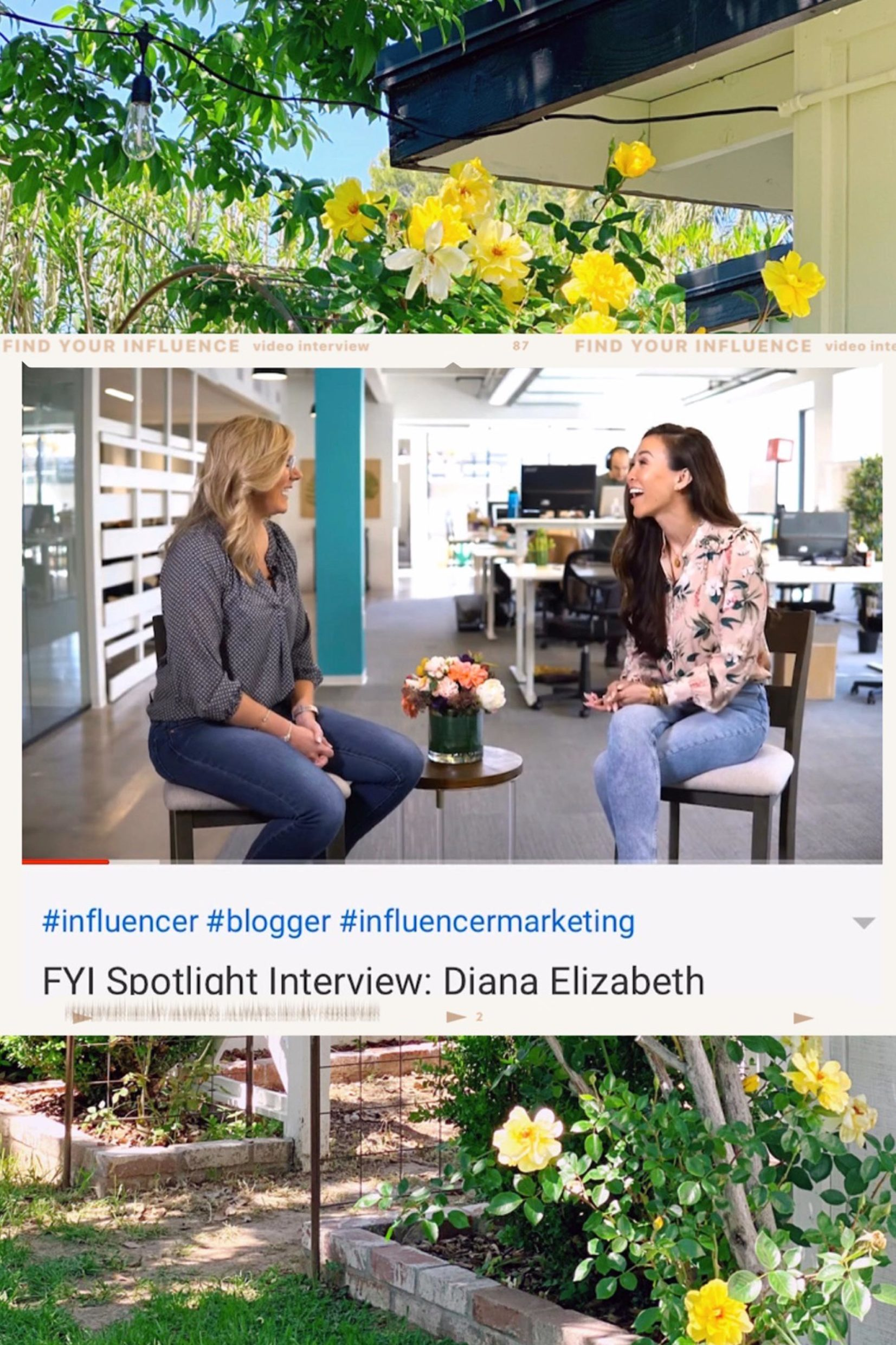 influencer advice lifestyle blogger interview video