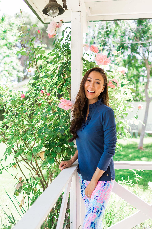 UPF 50+ FRIDA LONG SLEEVE POLO TOP Lilly Pulitzer