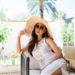 CARLOTTA MAXI DRESS Lilly Pulitzer white resort dress wide Brim straw hat // lifestyle blogger Diana Elizabeth