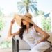 CARLOTTA MAXI DRESS Lilly Pulitzer white resort dress wide Brim straw hat // lifestyle blogger Diana Elizabeth #whitedress #summerdress