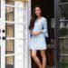 Hollie Tunic Dress lightweight cotton dress Lilly Pulitzer on Diana Elizabeth standing in doorway