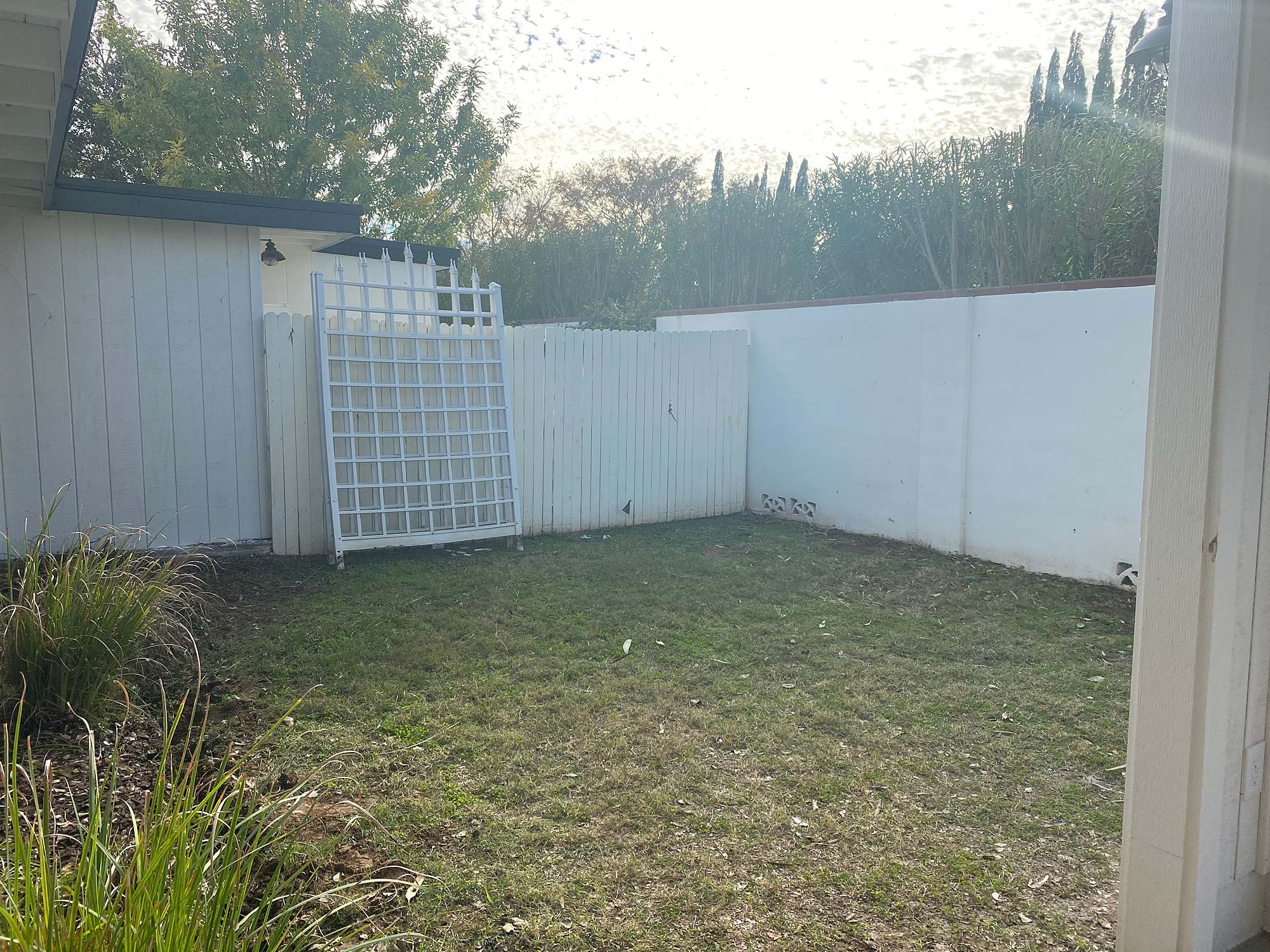 before garden area space unused garden area see the post for the after photo!