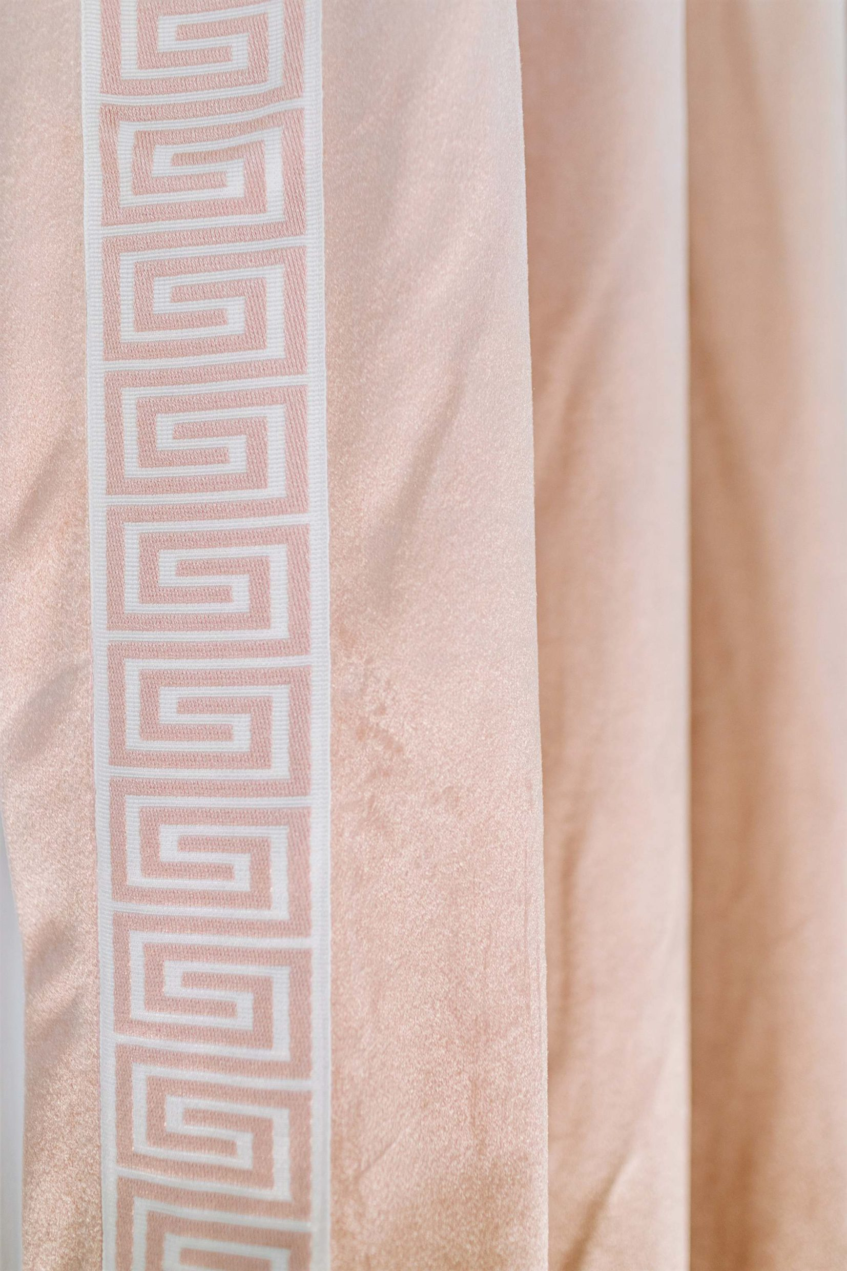 diy make it look like custom curtains with store bought pleated curtains - see blog post curtain trim #curtains