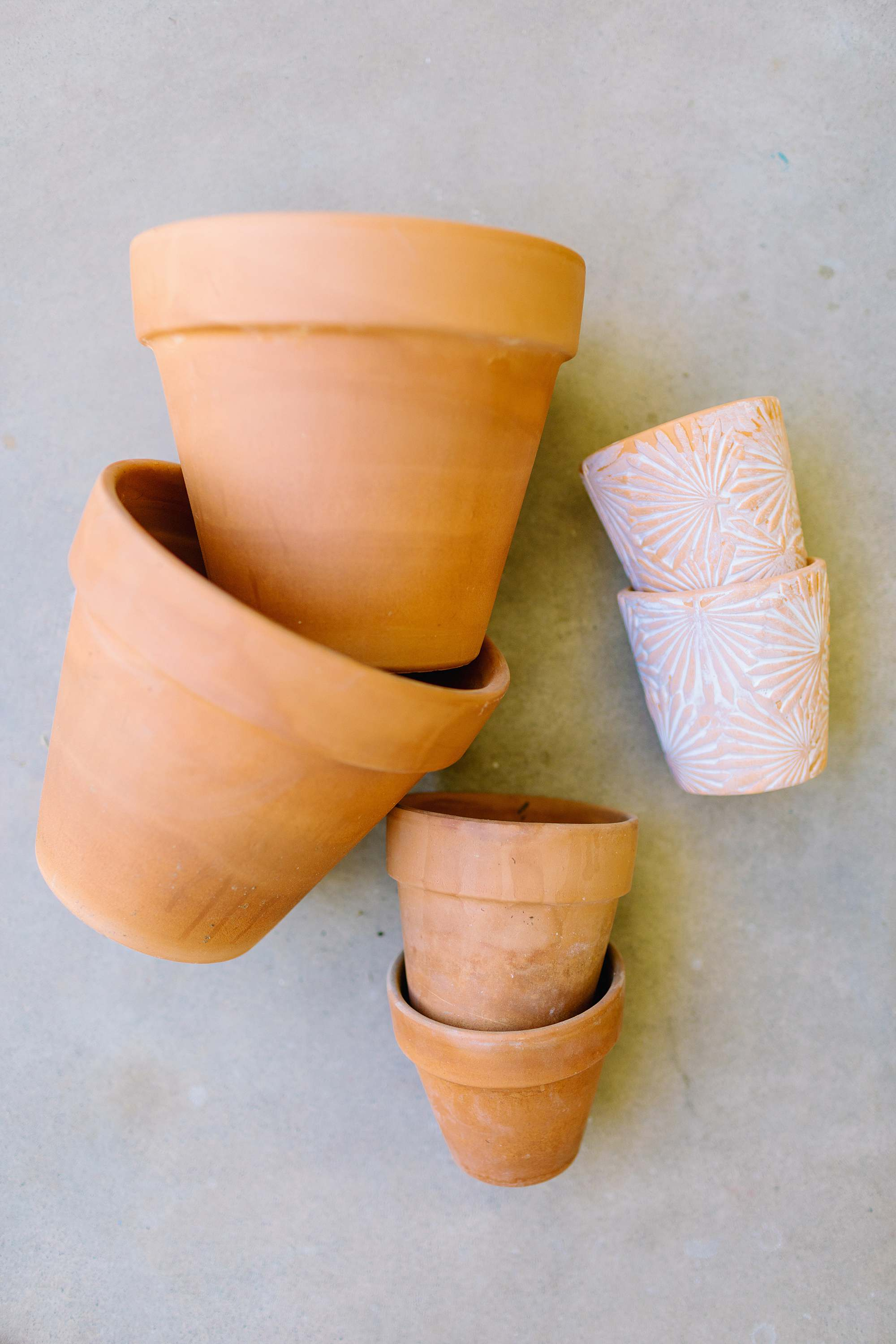 terra cotta pots at the 99 cents store for gardening - 8 things to find at the 99 cents store to save you money