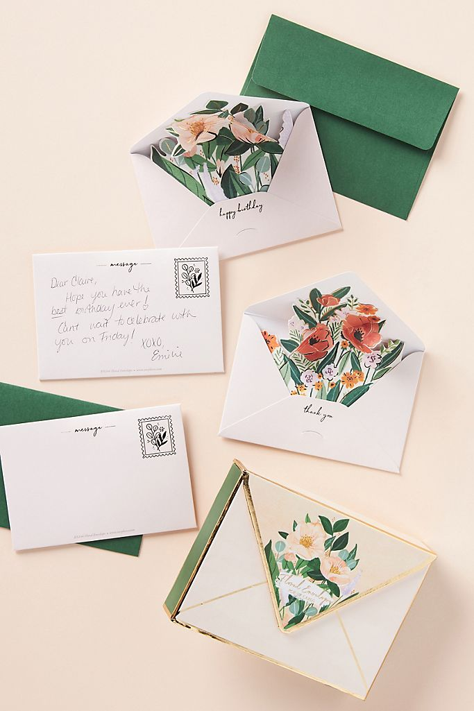 popup floral cards