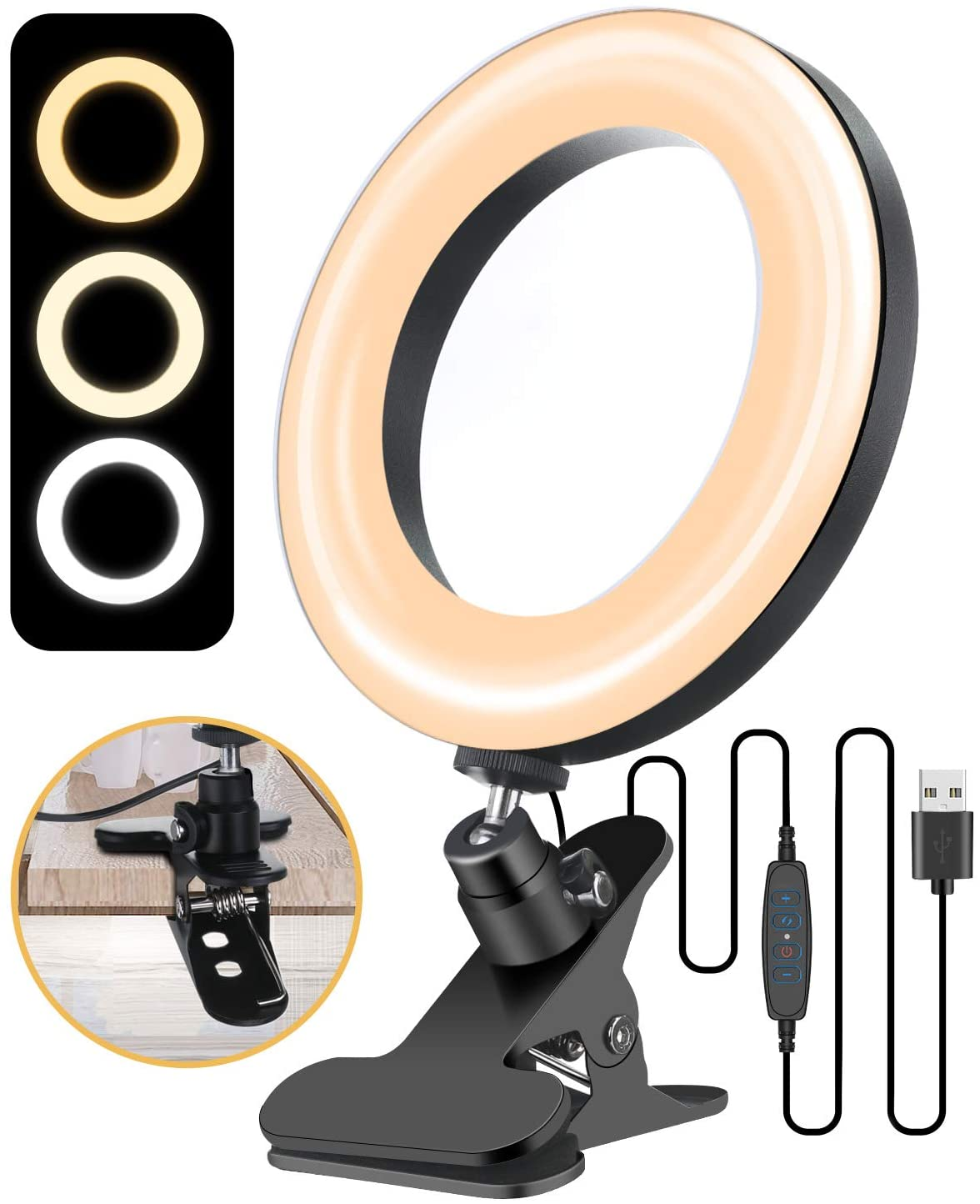 clip on ring light