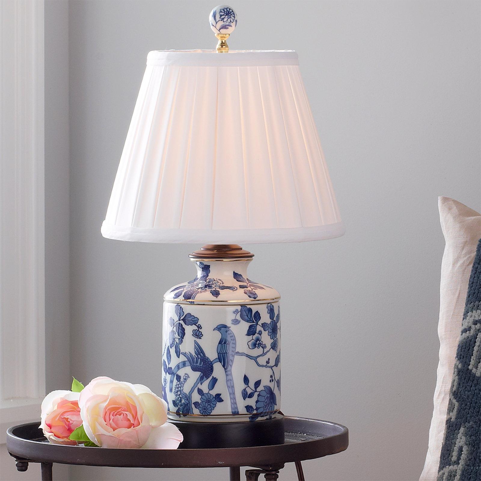 blue and white porcelain mini table lamp