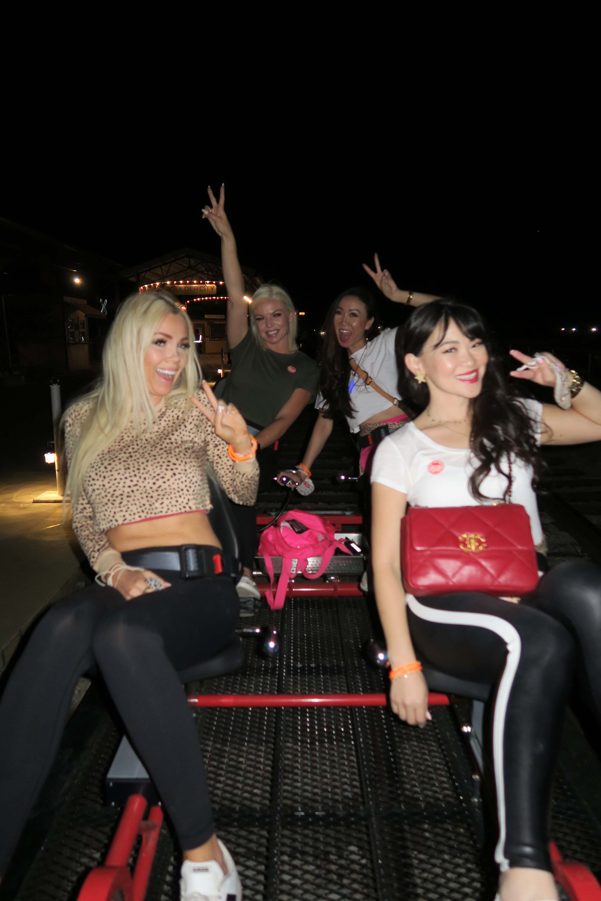 THINGS TO DO IN VEGAS - rail biking in Boulder City just 30 minutes outside of vegas on a quad bike with friends