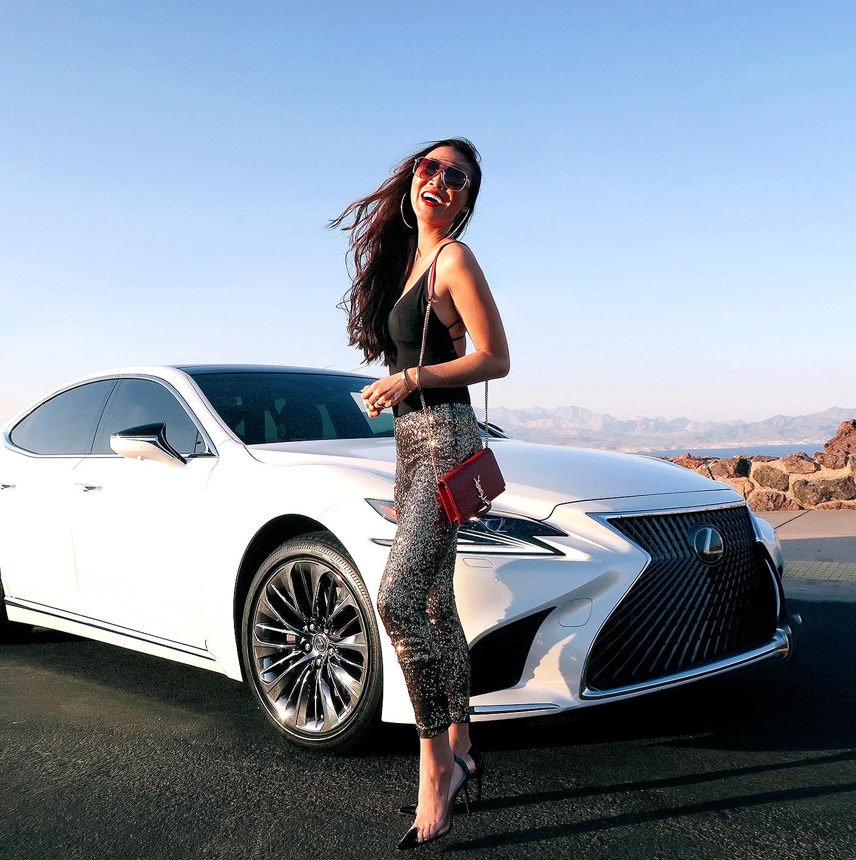 lexus LS500 white car 2020