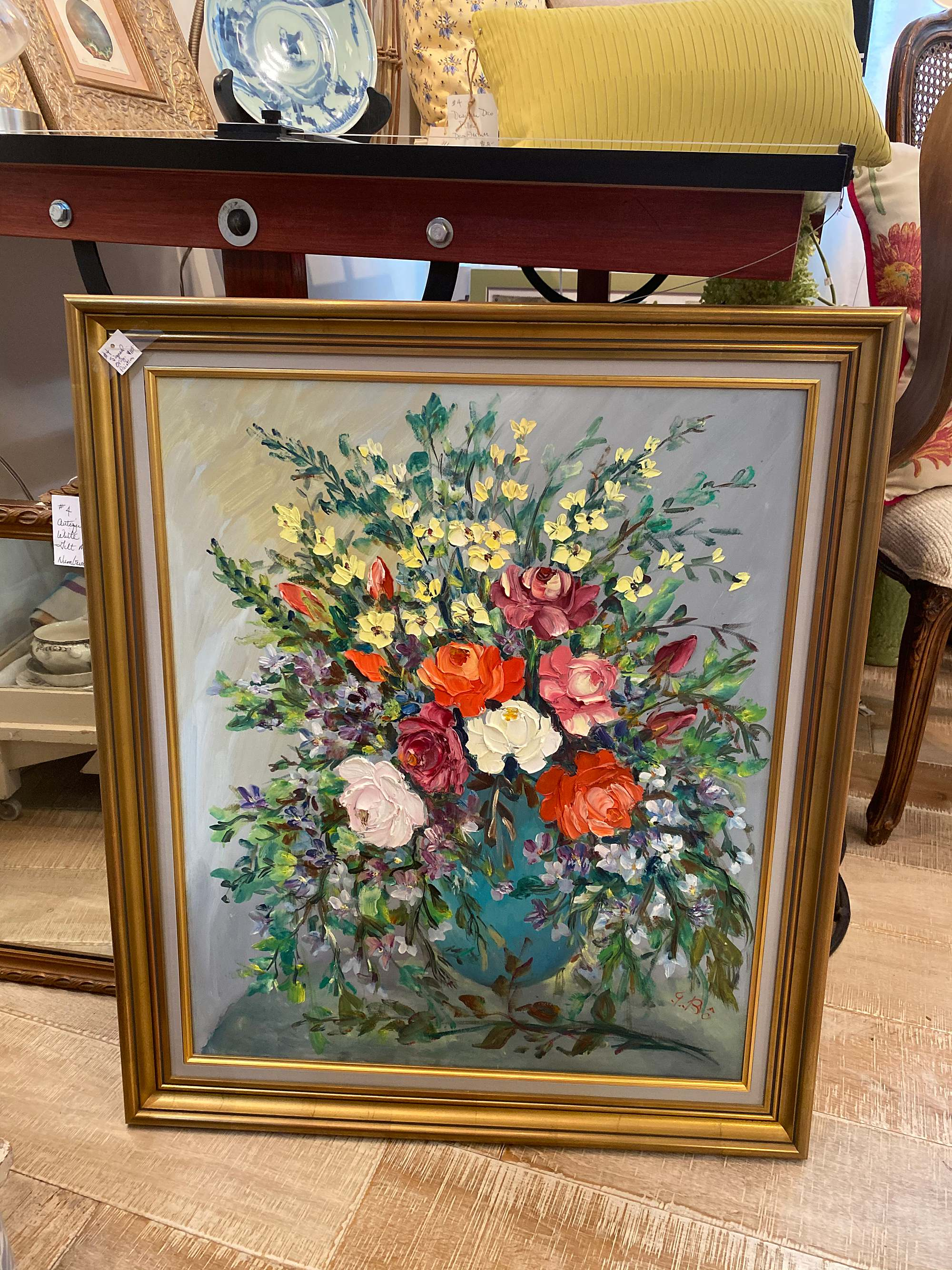 floral painting antique shopping tips on the blog