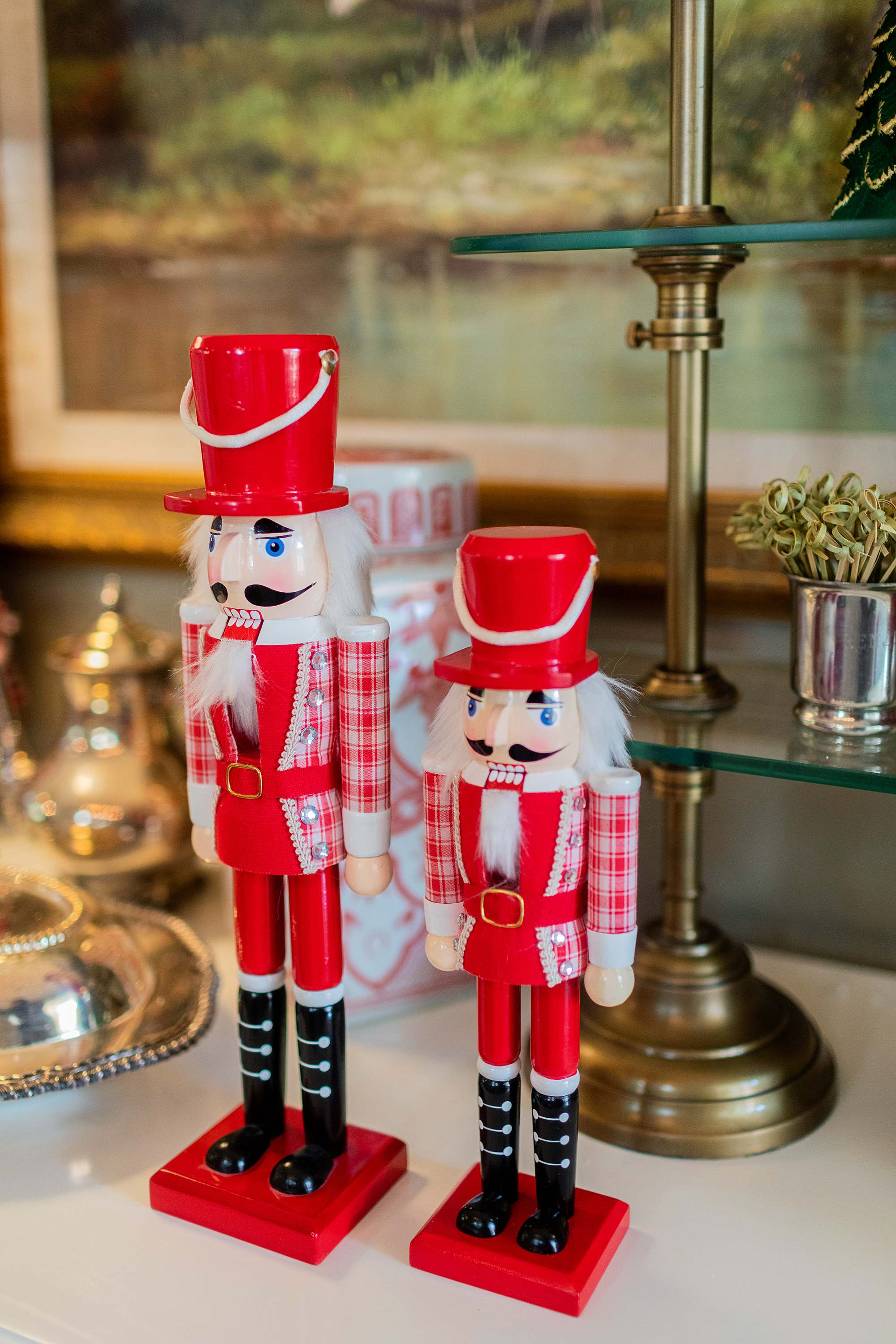 Walmart nutcrackers red affordable tips on saving Christmas decor
