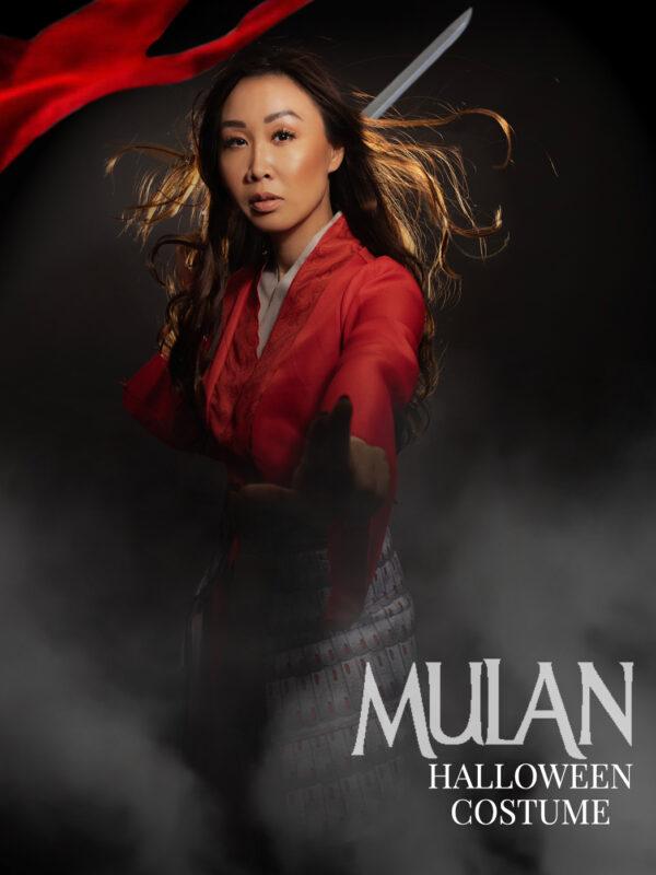 Mulan halloween costume idea inspiration Mulan pose fighting pose photoshop