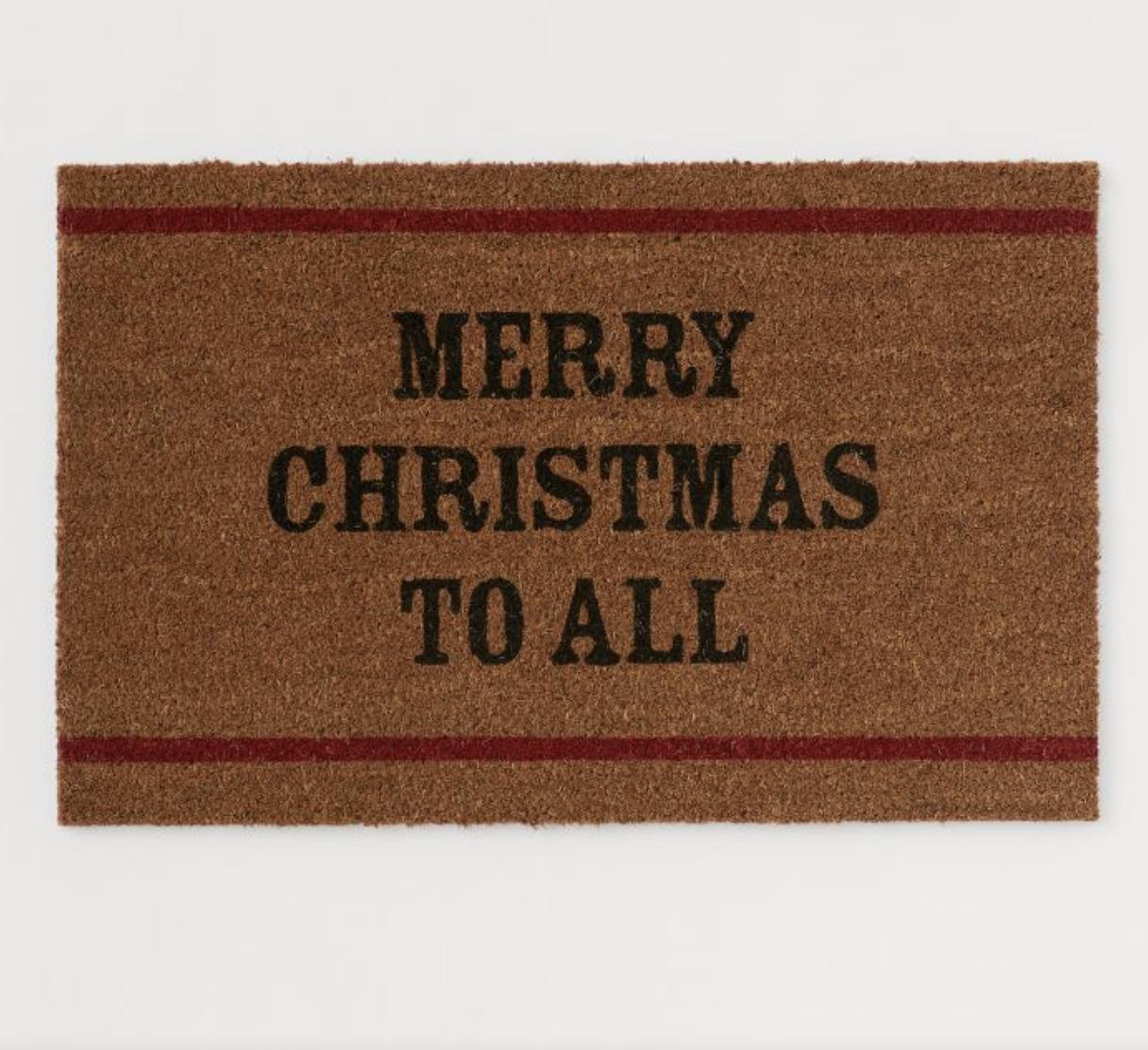 merry christmas to all front door mat