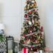 Christmas tree decor red white and green orange garland