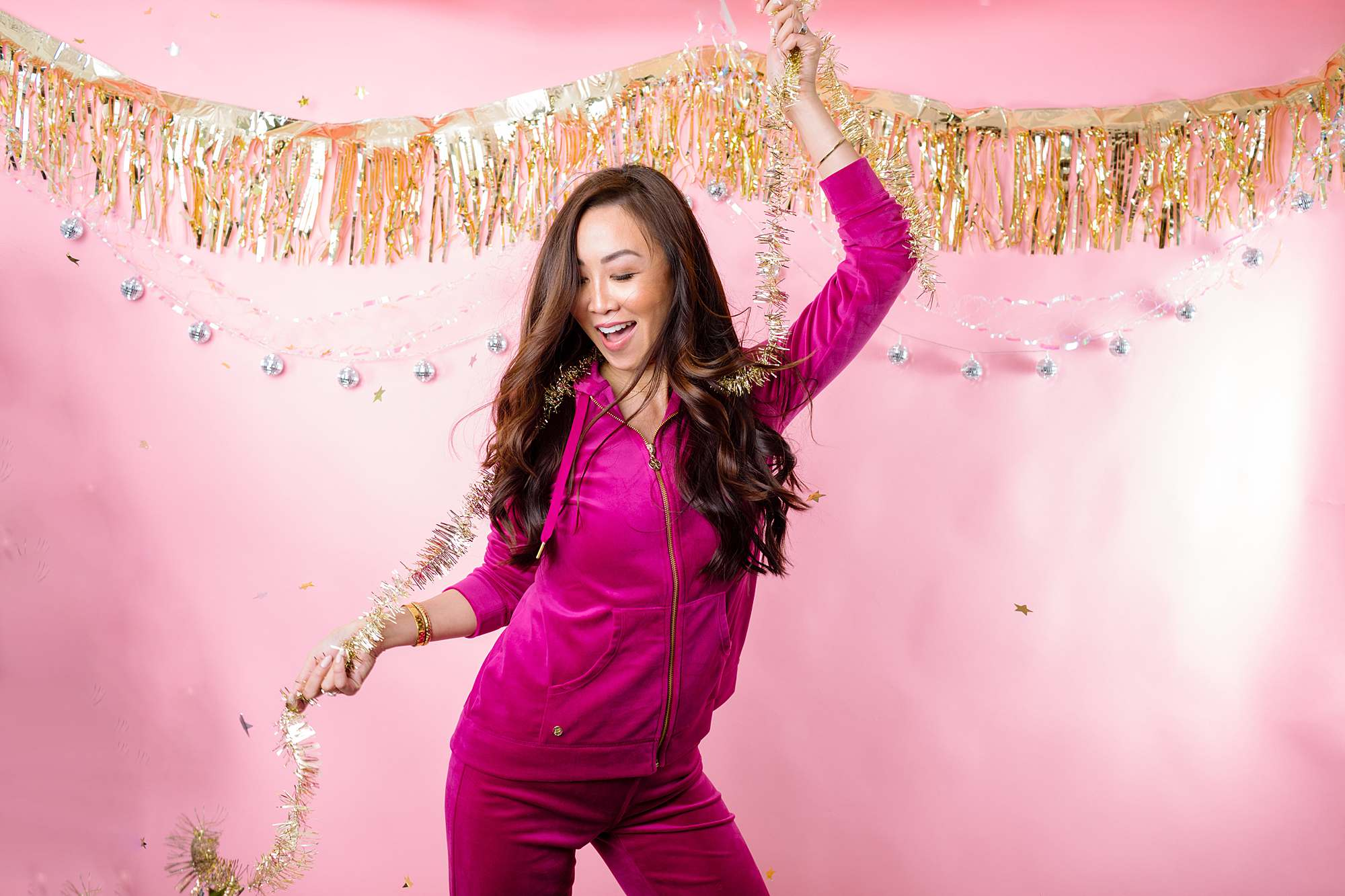 Lilly Pulitzer velour tracksuit pink