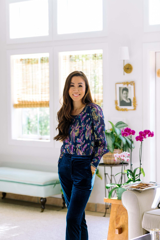 Lilly Pulitzer Lambert Silk Top - phoenix lifestyle blogger - holiday top looks