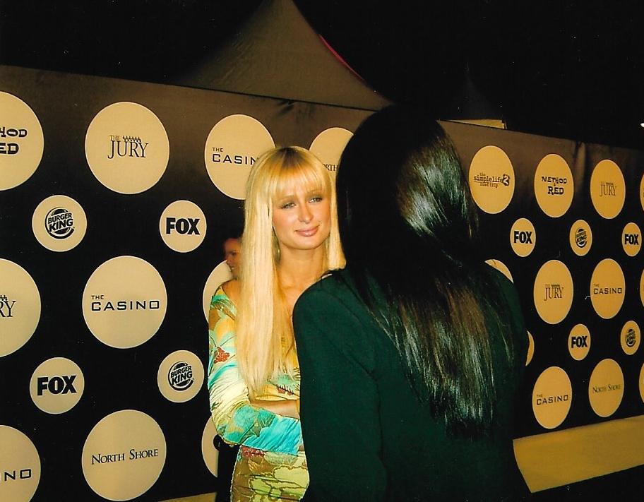 me interviewing Paris Hilton