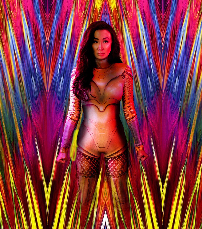 Wonder Woman replica costume photoshop - Diana Elizabeth - creative photo editing WW84 costume look