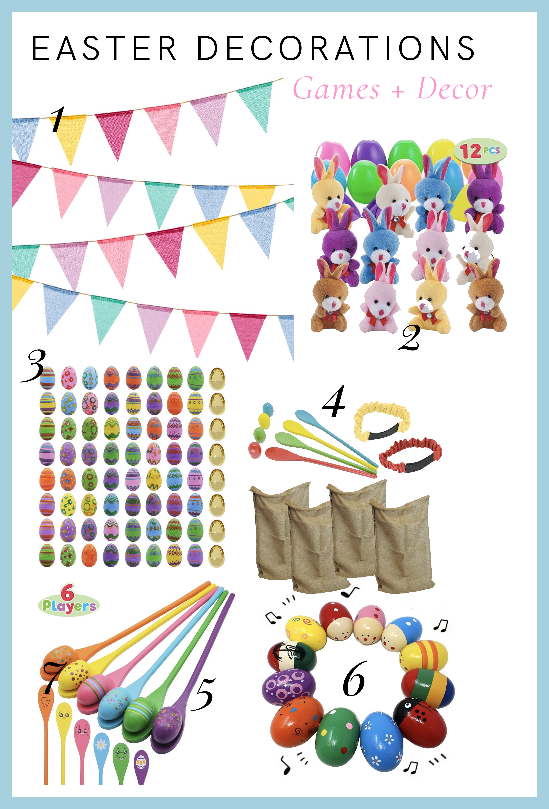 fun easter decor and gifts for kids and easter spring parties - banners and more