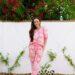 floral pink jumpsuit Rachel Parcell loungewear