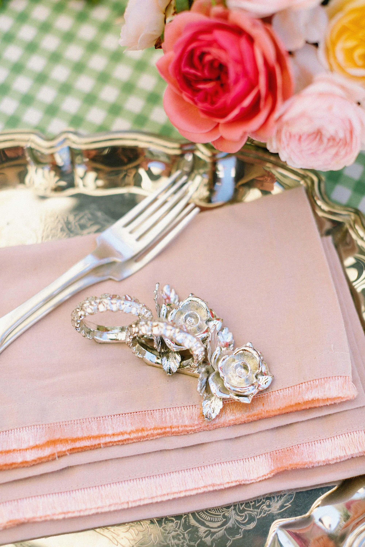 rose napkin holder pink napkins with frills