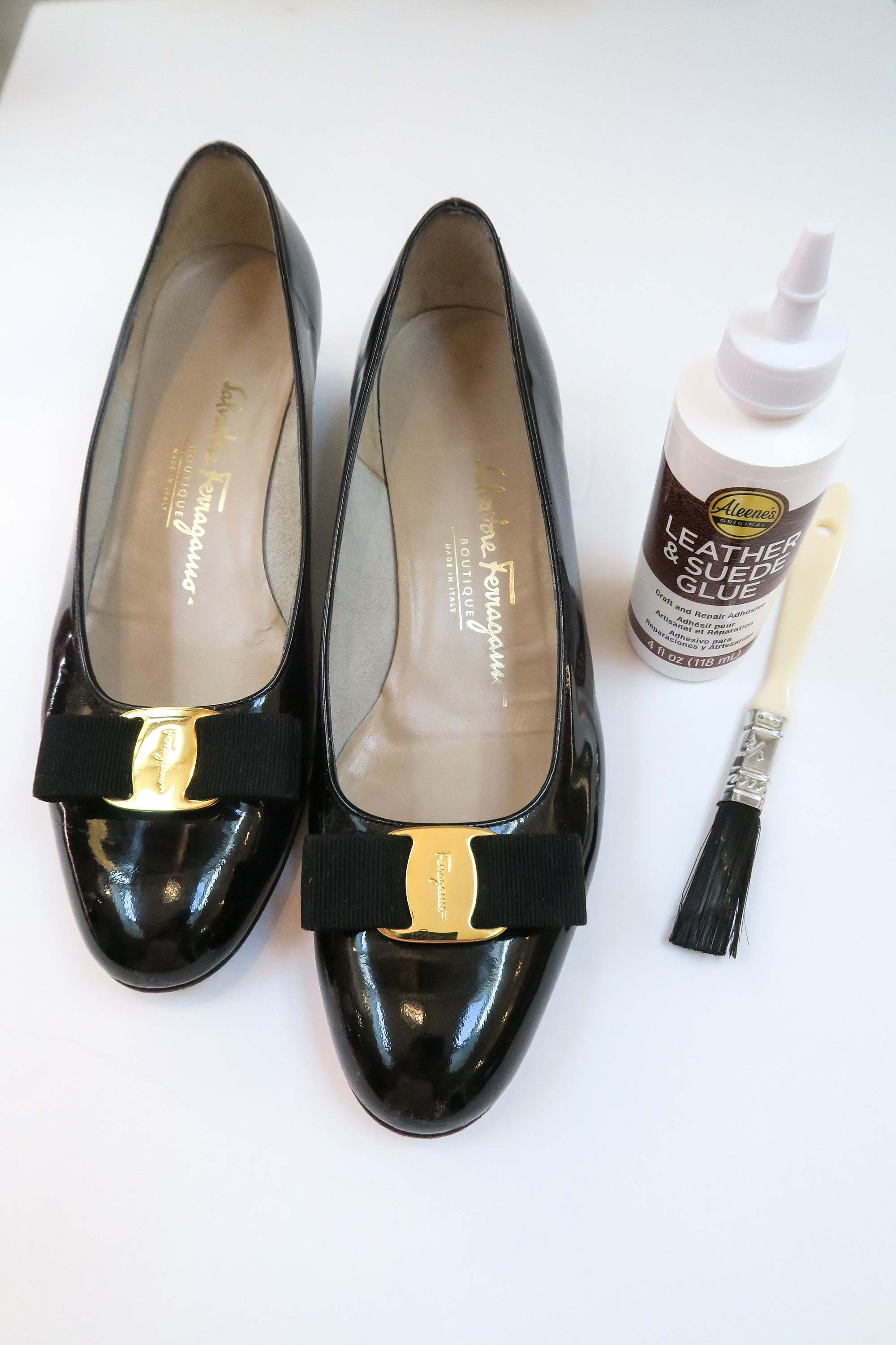 how to fix insoles of shoes that are loose vintage Ferragamos