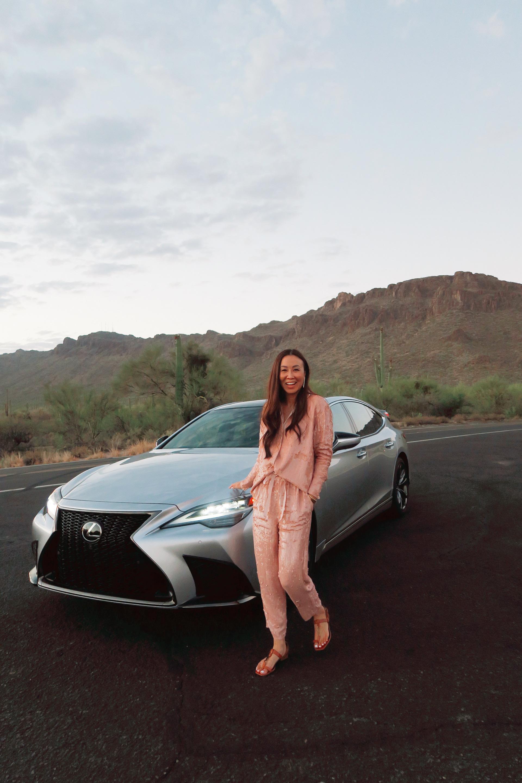 gates pass Starr pass tucson Arizona Lexus LS 500 phoenix lifestyle blogger sequin jumpsuit set Diana elizabeth