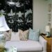 leopard wool carpet in home office mother of pearl oriental screen vintage from eBay grandmillennial style
