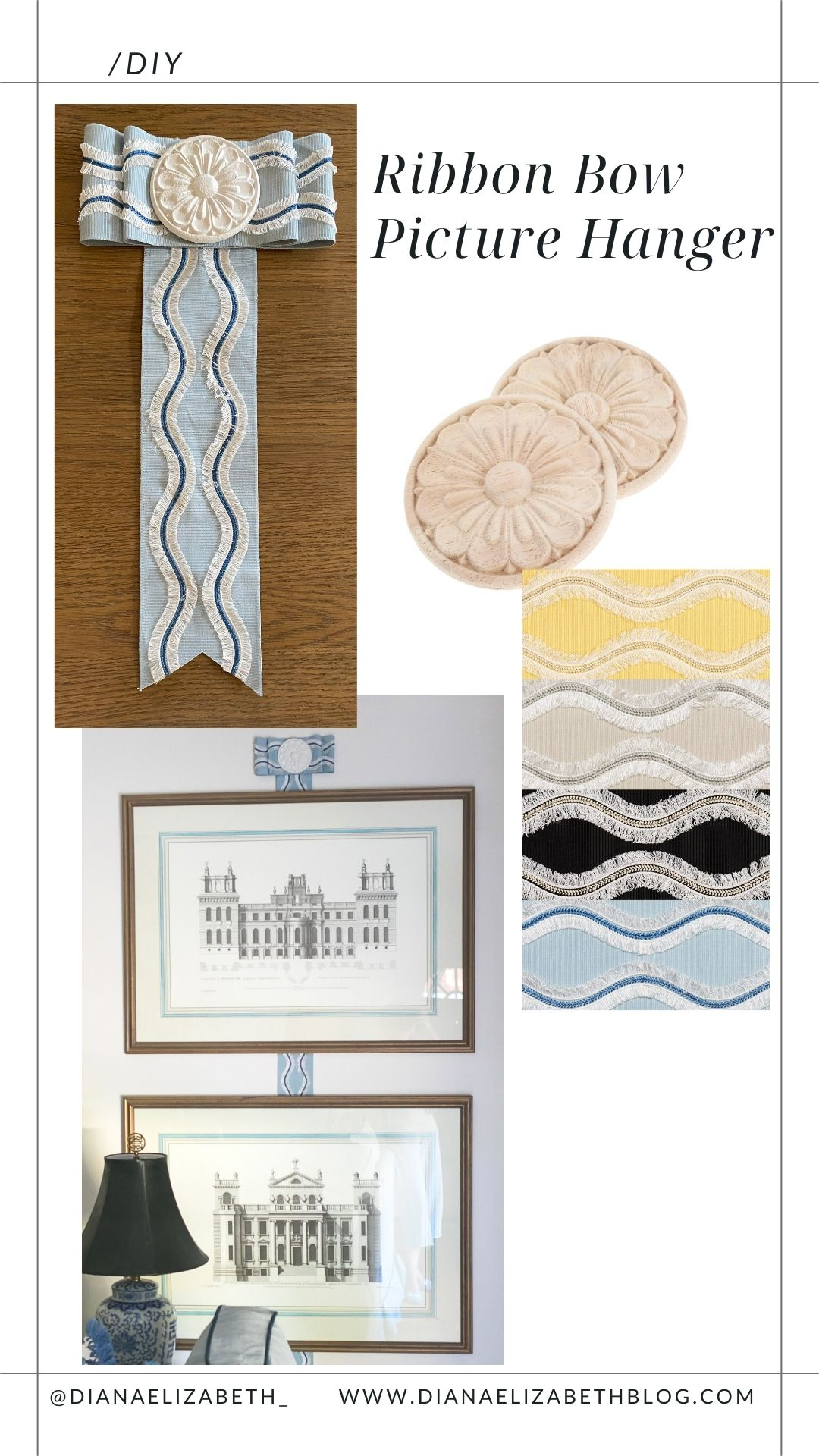 ribbon picture frame holder how to make one with two simple things - dress up the artwork on your walls