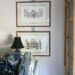 picture bow frame hanger for artwork using ribbon and making it into a flat bow to look French